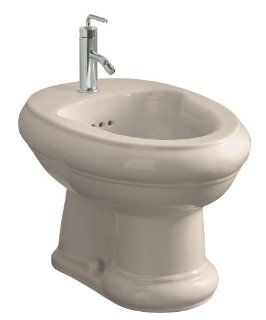 Kohler K 4833 55 Revival Bidet with Single Hole Faucet Drilling, Innocent Blush