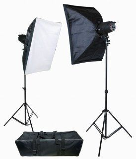 ProMaster P180 2 Light Studio Lighting Flash Kit  Photographic Monolights  Camera & Photo