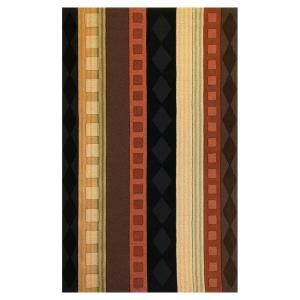 Kas Rugs Film Stripe Rust/Brown 5 ft. x 8 ft. Area Rug DISCONTINUED LOF20915X8