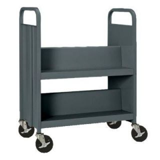 Sandusky 33 in. W x 18 in. D x 40 in. H Heavy Duty Steel Sloped Shelf Book/Utility Truck BT2S301734 02