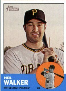 2012 Topps Heritage 259 Neil Walker   Pittsburgh Pirates (ENCASED MLB Trading Card) Sports Collectibles
