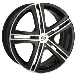 17x7 Sacchi S62 (262) (Black w/ Machined Face) Wheels/Rims 5x112/120 (262 7709B) Automotive