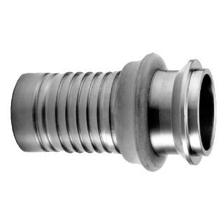 "PT Coupling Progrip C50 Crimp System Series Stainless Steel 304 Cam and Groove Hose Fitting, Adapter with Bumper, 2"" Sanitary Body I Line Male Camlock Hose Fittings"