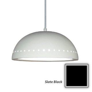 "A19 P306 A30 Slate Black Islands of Light Contemporary / Modern ""Gran Cyprus"" One Light Pendant from the Islands of Light Collection   Ceiling Pendant Fixtures"