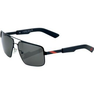 100% Hakan Sunglasses , Primary Color Black, Distinct Name Matte Black/Red, Gender Mens/Unisex 60002 013 01 Automotive