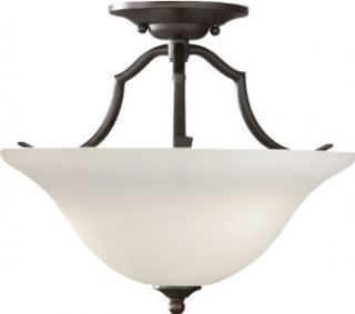 Murray Feiss SF294ORB Beckett 2 Light Semi Flush Ceiling Fixture with Soft White�Glass Shade, Oil Rubbed Bronze   Semi Flush Mount Ceiling Light Fixtures