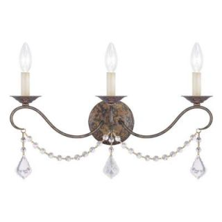 Filament Design Providence 3 Light Venetian Golden Bronze Incandescent Wall Sconce CLI MEN6458 71