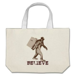 Funny Bigfoot Canvas Bags