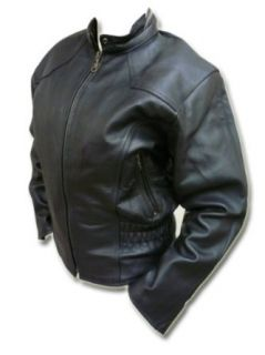 Womens Spandex Waist Leather Jacket with Zip Out Quilted Liner   LeatherBull(Free U.S. Shipping) Clothing