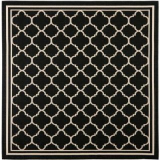 Safavieh Courtyard Black/Beige 5.3 ft. x 5.3 ft. Square Area Rug CY6918 226 5SQ