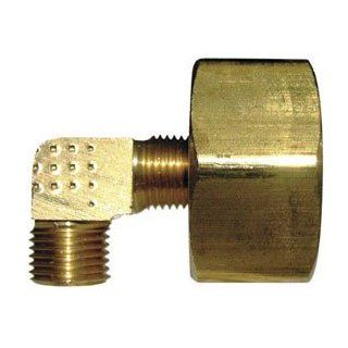 LASCO 17 8387 3/4 Female Garden Hose Thread by 1/4 Inch Compression Brass 90 Degree Ell/Elbow   Pipe Fittings
