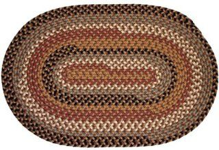 Pilgrim Indoor / Outdoor Rugs   Camel 8x11 Oval Braided Rug