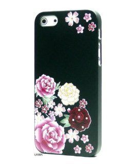 Basicase ™ Lovely Flower Hard 3D Relief Bling Rhinestones Hard Slim Fit Designer Cover Case for Apple iPhone 5 U858A with Gift Box Set + Special Free Gift by Bydico ™ Cell Phones & Accessories