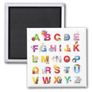 cartoon alphabet fridge magnet