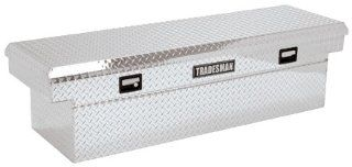 "Lund/Tradesman TALF591 71"" Bright Aluminum Deep Well Cross Bed Tool Box Automotive"