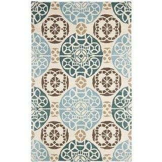 Safavieh WYD376L Wyndham Collection Area Rug, 5 Feet by 8 Feet, Honey