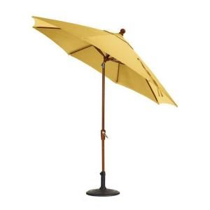 Home Decorators Collection Sunbrella 6 ft. Auto Crank Tilt Patio Umbrella in Buttercup DISCONTINUED 5354330520