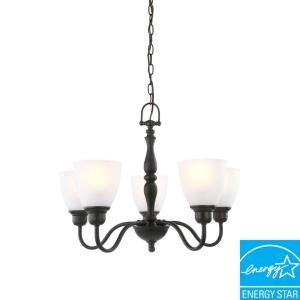 Hampton Bay Woodbridge Collection 5 Light Oil Rubbed Bronze Chandelier EZM8115P 2