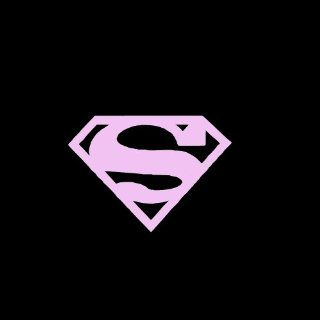 "Superman Emblem Car Window Decal Sticker Pink 3"" Automotive"