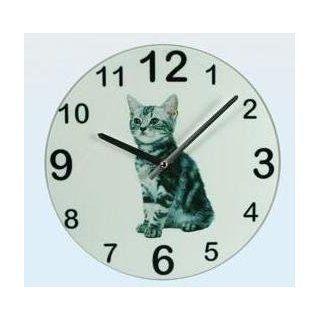 "Design Cat Coloured Wall Clock Photo Family Time "" House Cat """