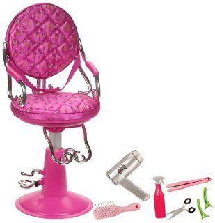 "Our Generation Hot Pink Salon Chair For 18"" Dolls Toys & Games"