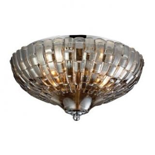 Elk Lighting 31250/2 Crystal Two Light Flushmount, Polished Chrome   Flush Mount Ceiling Light Fixtures