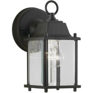 Illumine 1 Light Outdoor Lantern Black Finish Clear Beveled Glass Panels CLI FRT1705 01 04