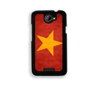 Flag of Vietnam   Protective Designer BLACK Case   Fits HTC One X / One X+ Cell Phones & Accessories
