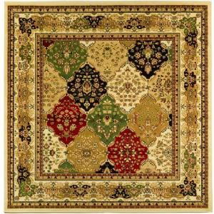 Safavieh Lyndhurst Assorted/Ivory 8 ft. x 8 ft. Square Area Rug LNH221A 8SQ