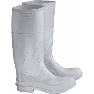 "ONGUARD 81012 PVC Men's Steel Toe Knee Boots with Safety Lok Outsole, 16"" Height, White, Size 11 Protective Safety Boots"