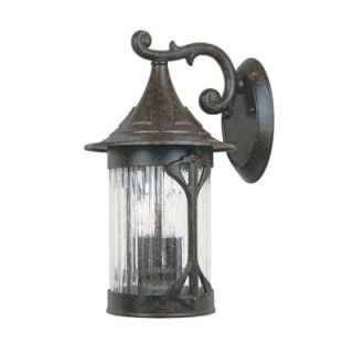 Designers Fountain Mill Creek Chestnut Lantern 3 Light Outdoor Wall Mount HC0249