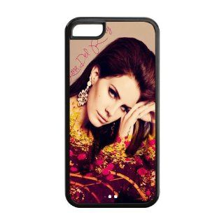 Super Star Lana Del Rey Design Best TPU Cheap Case Protective Back Cover For iPhone 5c 5c AX101182 Cell Phones & Accessories