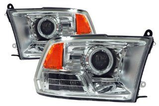 Dodge Ram Chrome CCFL LED Halo Projector Headlights /w Amber Automotive
