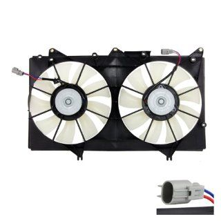 CarPartsDepot, Radiator Cooling Fan Motor Blades Shroud Assembly Replacement, 426 29344 LX3115107 LX3115107 Automotive