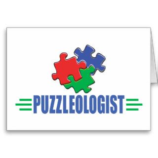 Funny Jigsaw Puzzle Greeting Card