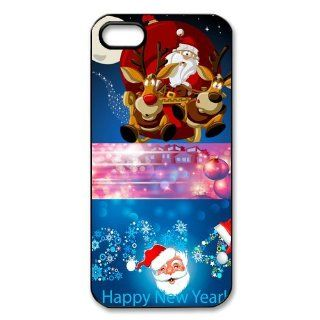 Christmas Santa Claus Design Protective Hard Case Cover Skin for Apple iPhone 5/5s  1 Pack   Black/White   1  Perfect Gift for Christmas Cell Phones & Accessories