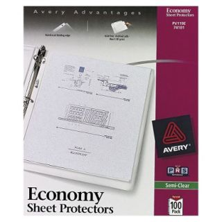 Avery Top Load Poly Sheet Protectors, Economy Gauge, Letter   Semi Clear (100