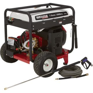 NorthStar Super High Flow Gas Cold Water Pressure Washer   7.0 GPM, 3500 PSI,