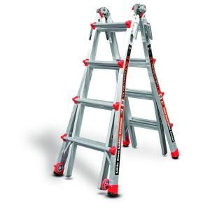 Little Giant Ladder RevolutionXE 17 ft. Aluminum Multi Position Ladder with 300 lb. Load Capacity Type IA Duty Rating 12017