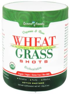 Green Foods   Wheat Grass Shots Organic and Raw   5.3 oz.