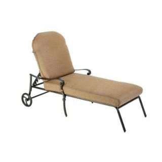 Hampton Bay Edington 2013 Adjustable Patio Chaise Lounge with Textured Umber Cushions 131 012 CLCB KD