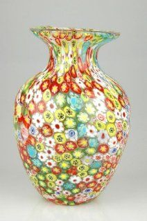 Glass Vase Millefleurs Fabulous 100% Handblown Art X605   Decorative Vases