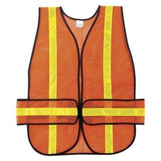 MCR Safety CHEV2O Chevron Mesh Safety Vest (Orange)