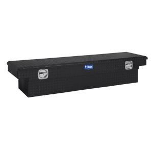 UWS 72 in. Aluminum Black Single Lid Secure Lock Crossover Tool Box DISCONTINUED SL 72 BLK