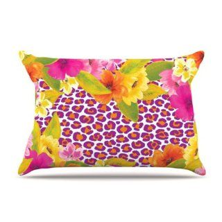 Kess InHouse 30 by 20 Inch Aimee St. Hill Leopard Pink Pillow Case, Standard   Pillowcases