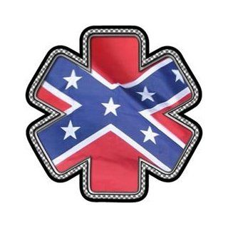 "Confederate Flag Star of Life Decal   4"" h   REFLECTIVE"