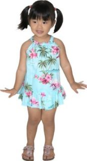 RJC Baby Girls Pink Flamingo Hibiscus Halter 2pc Set Clothing