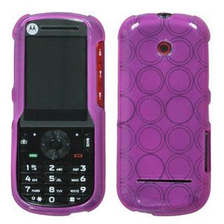 Soft Skin Case Fits Motorola VE440 Hot Pink Circle Candy Skin MetroPCS Cell Phones & Accessories