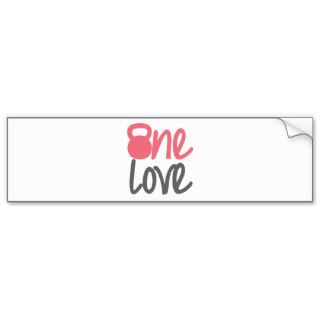 "Pink ""One Love"" Bumper Sticker"