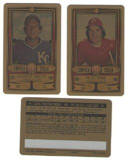1983 Perma Graphics Credit Card GOLD SuperStars   BOSTON RED SOX Team Set Sports Collectibles